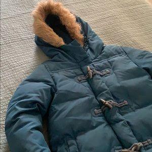 Crewcuts Puffer Jacket with fur hood